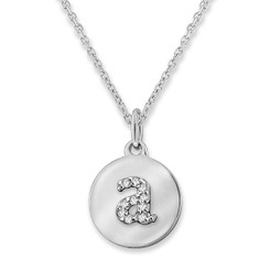 KC Designs Diamond Mini Disc Initial Necklace N9640