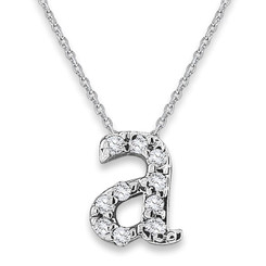 KC Designs Diamond Baby Typewriter Initial Necklace N9660