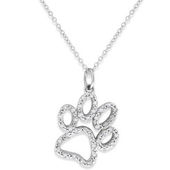 KC Designs Large Diamond Paw Necklace with 38 Diamonds weighing .20 Carats N11866