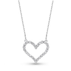 KC Designs Diamond Heart Necklace with 26 Diamonds weighing .44carats N2285
