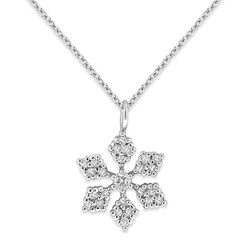 KC Designs Diamond Snowflake necklace with 24 Diamonds weighing .24 carats N10538