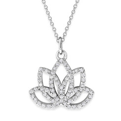 KC Designs Diamond Lotus Flower with 65 Diamonds Weighing .35 carats N13960