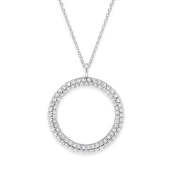 KC Designs Diamond Double Row Circle Necklace  with 86 Diamonds Weighing .86 carats N1252