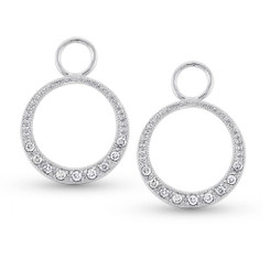 KC Designs Diamond Small Circle Earring Charms with 18 Diamonds weighing .12 carats CH2325