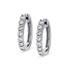 KC Designs Diamond Mini Hoop Earrings with 14 Diamonds weighing .45 carats E4210