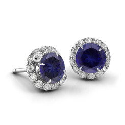 Danhov Abbraccio Swirl Sapphire Diamond Earrings AH100-BS