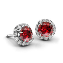 Danhov Abbraccio Swirl Ruby Diamond Earrings AH100-R