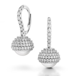 Danhov Trenta Limited Edition Pearl and Diamond Earrings
