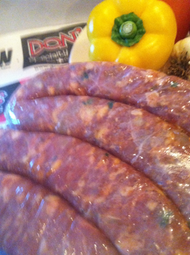 Fresh rabbit & pork sausage(4 in a pack)