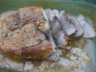 Fresh Ham Pork Roast Stuffed and Seasoned