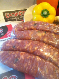 Fresh pork sausage w/jalapeno(3 in pack)