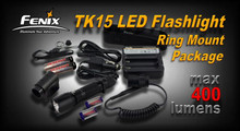 Fenix TK15 LED Flashlight Tactical Flashlight Ring Mount Pkg.