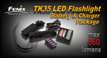 Fenix TK35 LED Flashlight with 18650 Charger Pkg.
