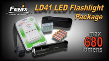 Fenix LD41 LED Flashlight/Battery Charger Package