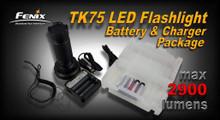 Fenix TK75 LED Flashlight Package - 2900 Lumens