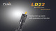 Fenix LD22G2 LED Flashlight Tactical Tail Cap Switch