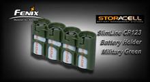StorAcell SlimLine CR123 Battery Holder (Green)