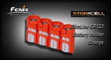 StorAcell SlimLine CR123 Battery Holder (Orange)