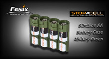 StorAcell SlimLine AA Battery Case (Military Green)