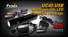 Fenix UC40 Battery and Charger Package