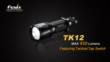 Fenix TK12 LED Flashlight/Charger/Batteries Pkg.