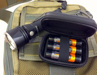 Padded Battery Storage Case Three 18650 Batteries