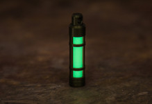 TEC Accessories Aluminum Glow Fob - Anodized Green with Green Glow