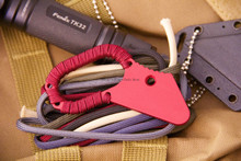 Hideaway Knives Red Anodized Trainer