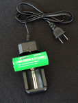 Single-Bay Charger and 26650 Rechargeable Battery Set