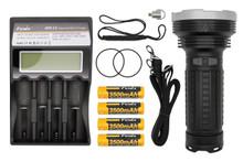 Fenix TK75 LED Flashlight Charger and Batteries Pkg. Deal