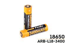 Fenix ARB-L18-3400 mAh 18650 Battery - Button Top
