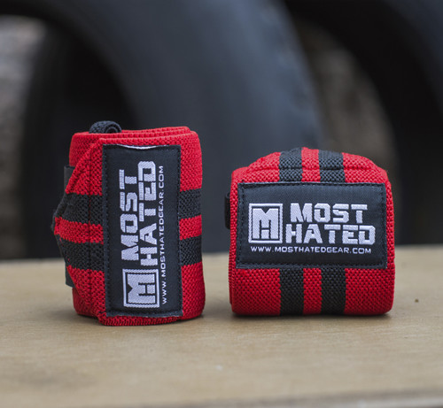 Rebel Wrist Wraps RedB