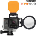 FLIP5 Pro Combo Package with SHALLOW, DIVE, and DEEP Underwater Color Correction Filters for GoProHero5, Hero4, Hero3+ & Hero3 and +15 MacroMate Mini