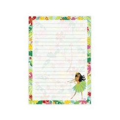 Hawaiian Note And List Pad Hula Maiden