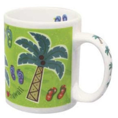 Hawaii Coffee Mugs 2 Pack I Love Hawaii
