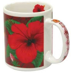 Hawaii Coffee Mugs 4 Pack Hibiscus Trio