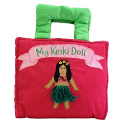 Hawaiian Children's Playbag My Keiki Doll Soft Cloth