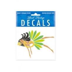 Hawaii Decal Island Hula Honeys 4 In. X 3.4 In.