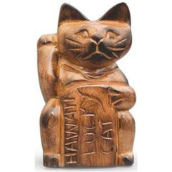 Hawaiian Figurine Lucky Cat 4 Inch