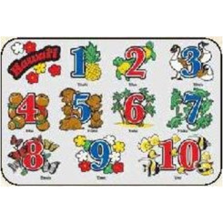 Hawaii Kid's Translucent Placemat Numbers 4 Pack