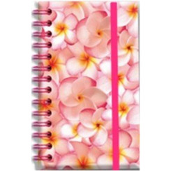 Hawaiian Elastic Band Notebook Pink Plumerias