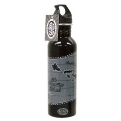 Hawaiian Water Bottle Black Island Chain