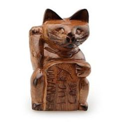Hawaiian Figurine Lucky Cat 6 Inch