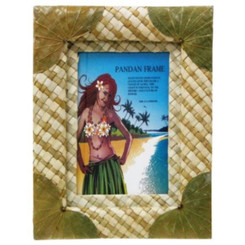 Hawaii Photo Frame Pandan With Green Leaf 5 X 7 Inch