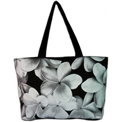 Medium Classic Tote Aloha Pua Gray, Black