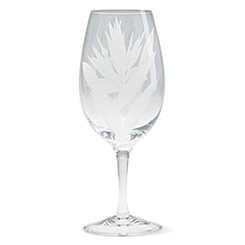 4 Bird Of Paradise Etched Water Goblets