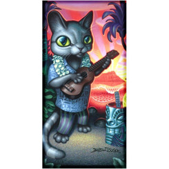 "Tiki Cat Beach Towel 30"" X 60"""