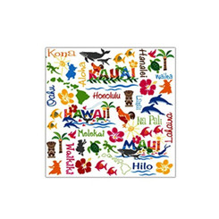 4 Packs Cocktail Beverage Paper Party Napkins Hawaiian Adventures