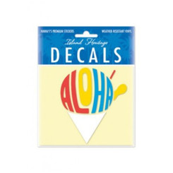 Aloha Shave Ice Small Decal Sticker