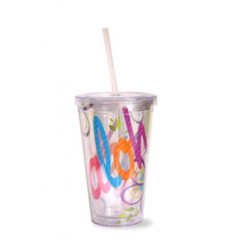 Bold Aloha Travel Tumbler With Straw 16 Oz